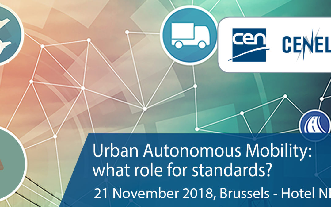 SAFE STRIP at the standards for autonomous mobility workshop in Brussels