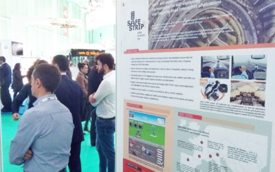 SAFE STRIP poster at the Go Mobility event in Spain