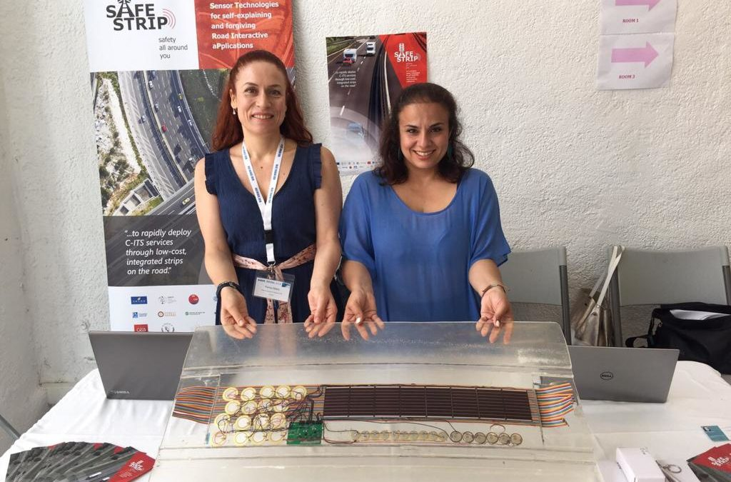 SAFE STRIP road marking technology presented at DCOSS2019 in Santorini